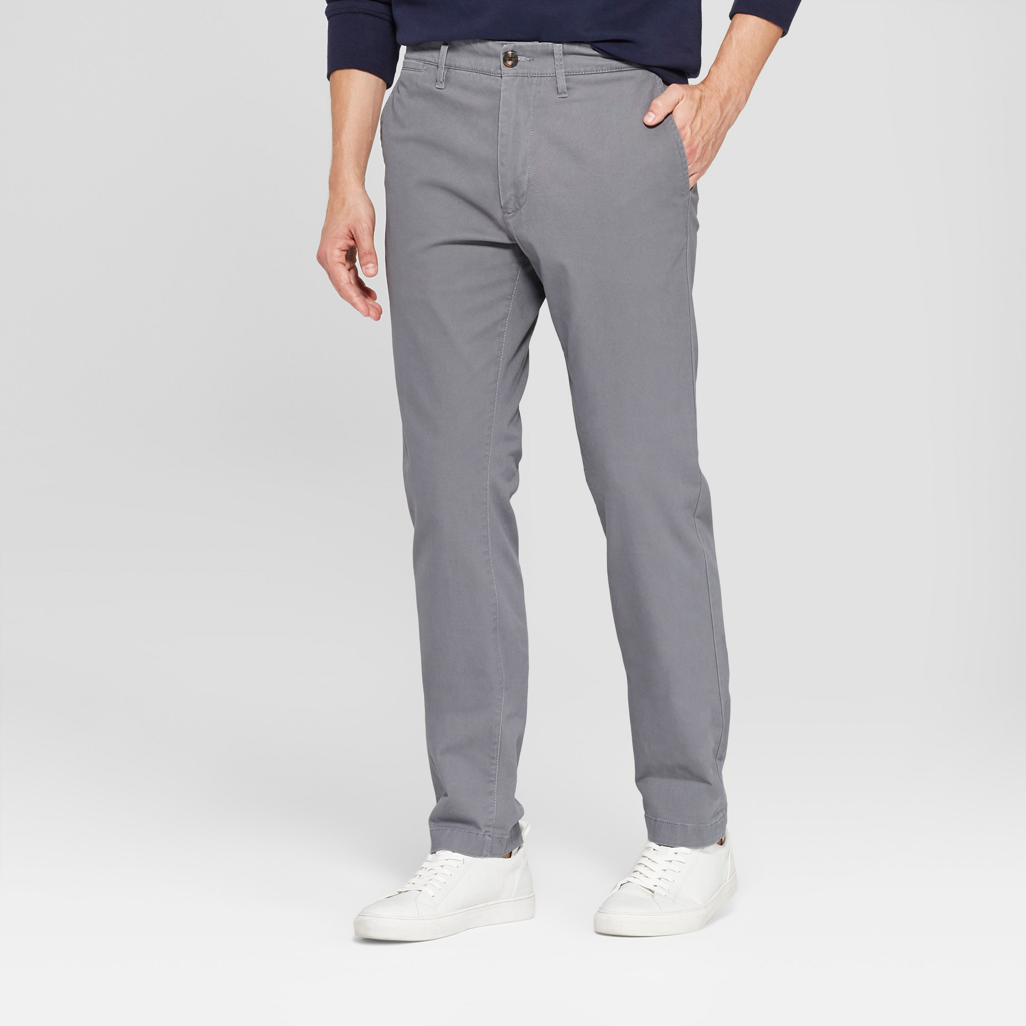 Men's Slim Fit Hennepin Chino - Goodfellow & Co Dark Gray 36x30