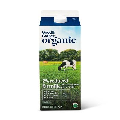 Organic 2% Milk - 0.5gal - Good & Gather™