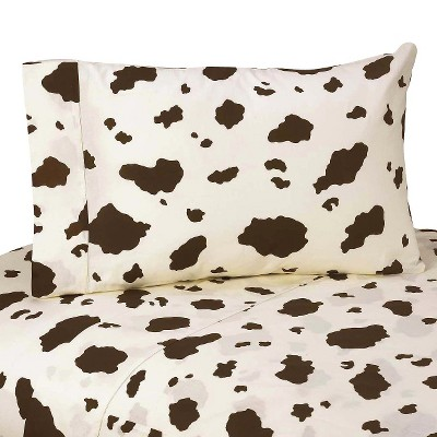 Sweet Jojo Designs Cowgirl Sheet Set - Cow Print (Queen)