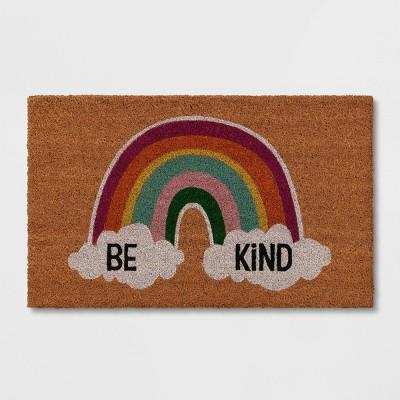 "1'6""x2'6"" 'Be Kind' Doormat Natural - Sun Squad™"