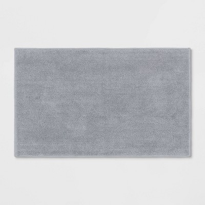 "21""x34"" Bath Mat Light Gray - Threshold Signature™"