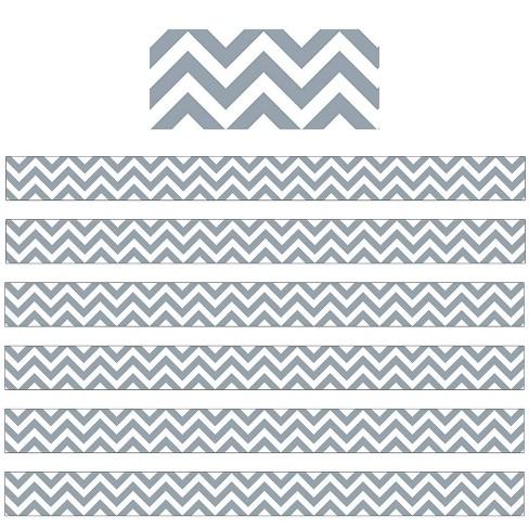 6pk 35ft Chevron Classroom Borders Slate Gray - Creative Teaching Press - image 1 of 2