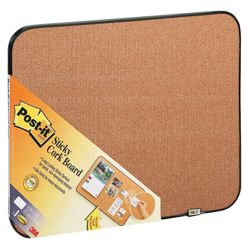 Post-it® Sticky Self-Stick Cork Board with Frame - image 1 of 3