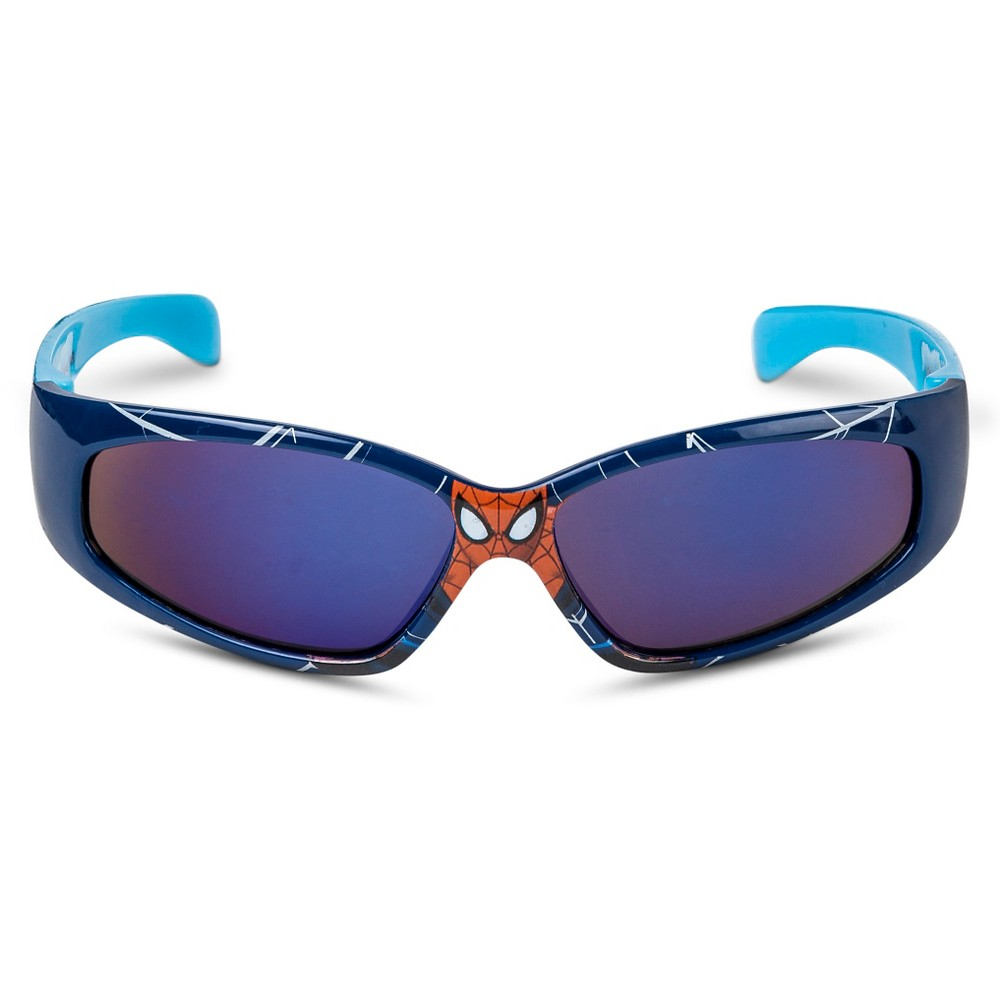 Boys' Marvel Spider-Man Oval Sunglasses - Blue/Red One Size