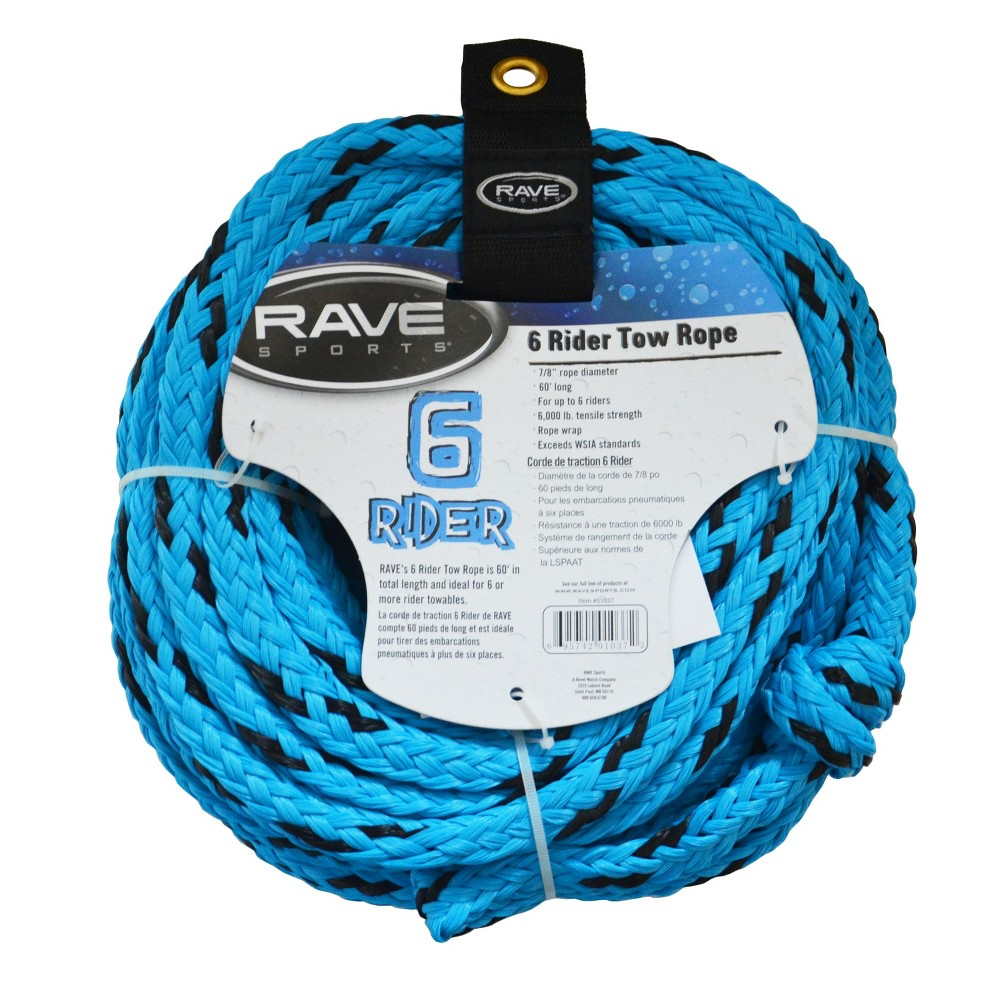 Rave Sports Tow Rope 6-Rider - Blue