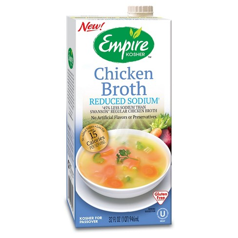 Empire Kosher Reduced Sodium Chicken Broth 32 fl oz - image 1 of 1