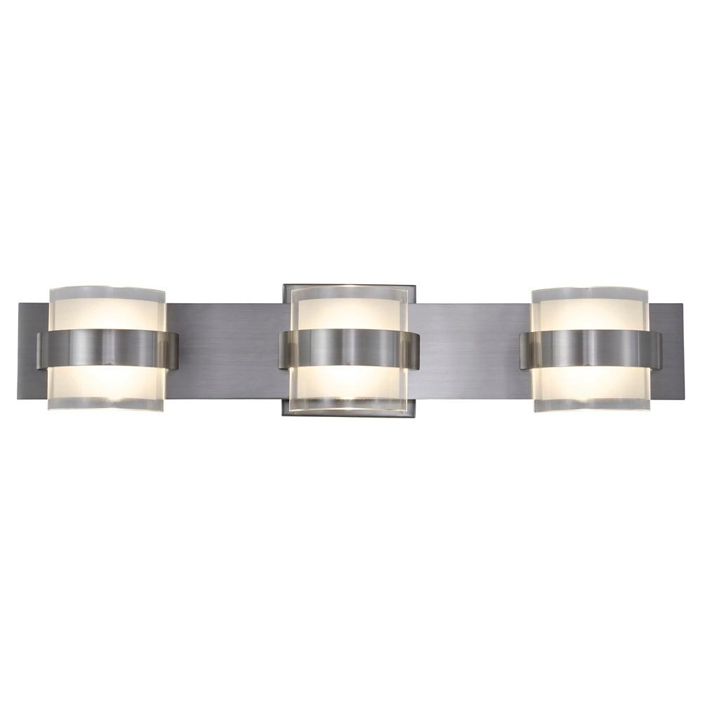 Restraint 3 Light Led Vanity - Polished Chrome, Silver