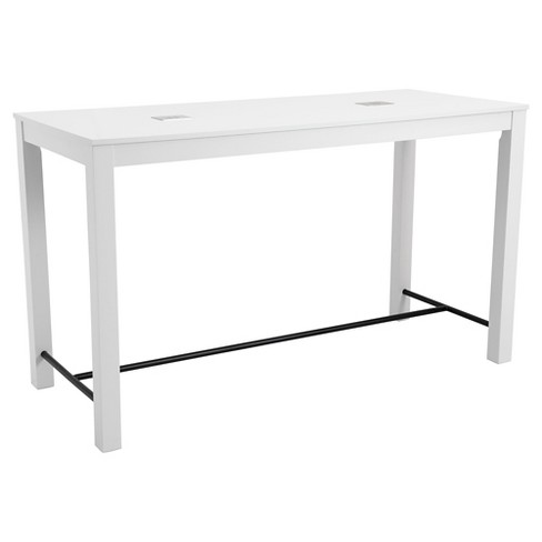 Modern 8-port USB Enabled Rectangular Bar Table - ZM Home - image 1 of 1