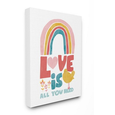 Stupell Industries Whimsical Kid's Rainbow Love Is All You Need Quote