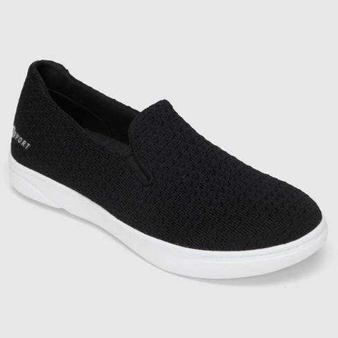 Women s S SPORT BY SKECHERS Slip On Knit Athletic Shoes - Black   Target fb50ca4b2be