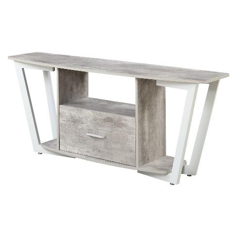 "60"" Graystone TV Stand Gray/White - Johar Furniture - image 1 of 4"