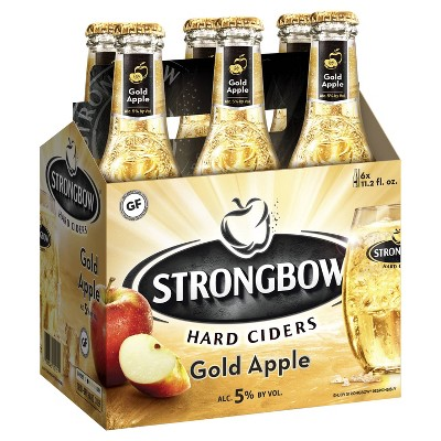 Strongbow Gold Apple Hard Cider - 6pk/11.2 fl oz Bottles