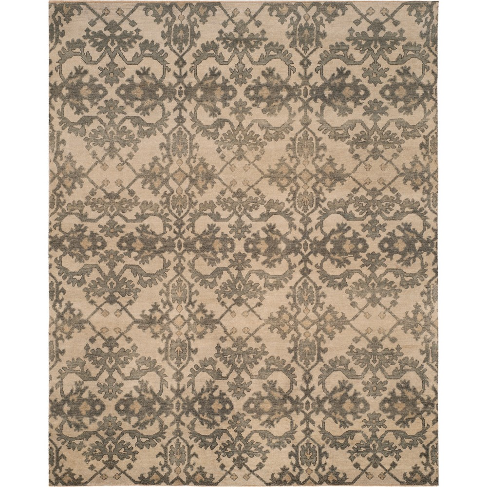 8'X10' Jacquard Knotted Area Rug Ivory/Gray - Safavieh, White
