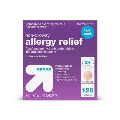 Fexofenadine Hydrochloride Allergy Relief Tablets - up & up™