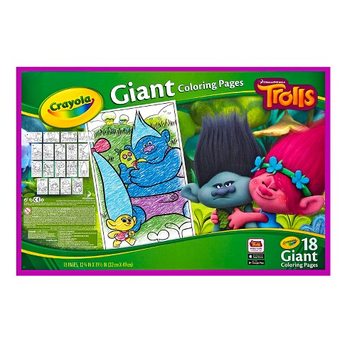 Crayola Giant Coloring Pages Trolls Target