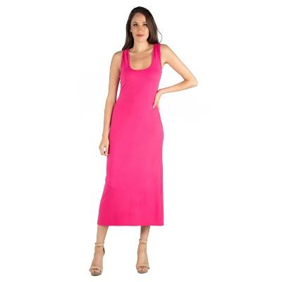 24seven Comfort Apparel Women's Scoop Neck Maxi Dress