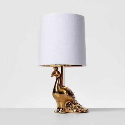 Brass Peacock Table Lamp Gold (Includes Energy Efficient Light Bulb)- Opalhouse™