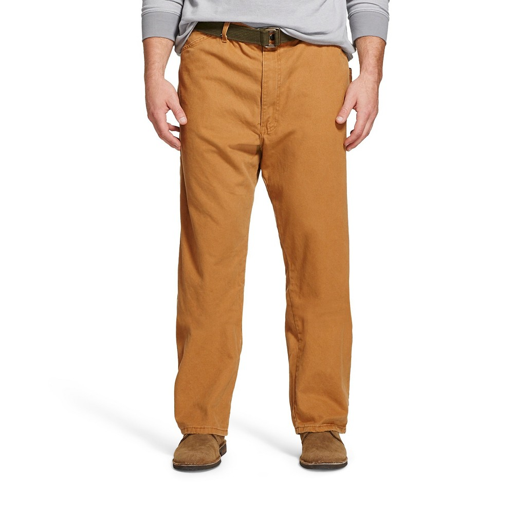 Dickies Men's Big & Tall Relaxed Straight Fit Sanded Duck Canvas Carpenter Jeans - Brown Duck 36x36
