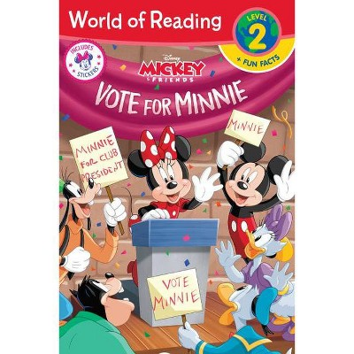 World of Reading: Minnie Vote for Minnie (Level 2 Reader Plus Fun Facts) - by Disney (Paperback)