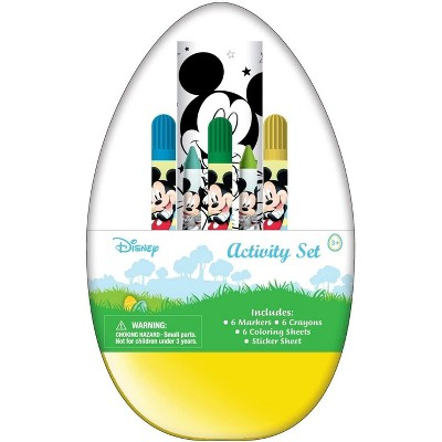 Innovative Designs Mickey Activity Egg Craft Kit | Coloring Pages | Stickers | Markers | Crayons