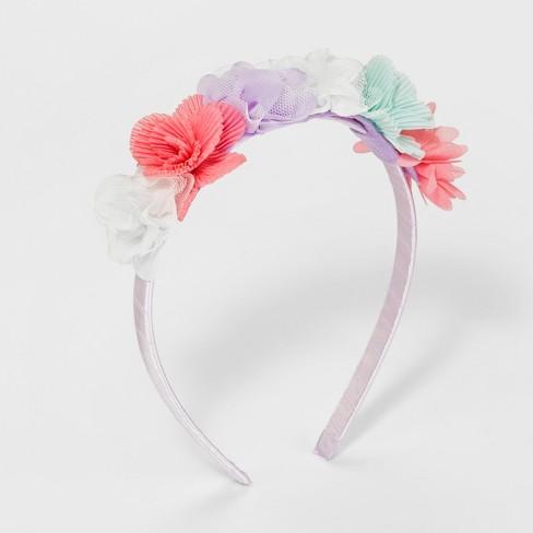 Girls  Chiffon Flower Headband - Cat   Jack™   Target 5aeb636c8cd