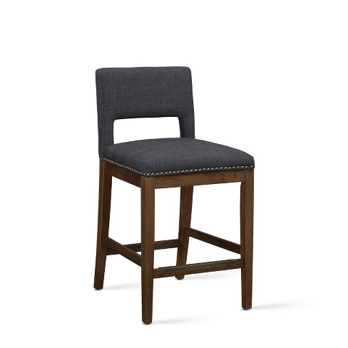 Awesome Rowell Grey Counter Stool Comfort Pointe Andrewgaddart Wooden Chair Designs For Living Room Andrewgaddartcom