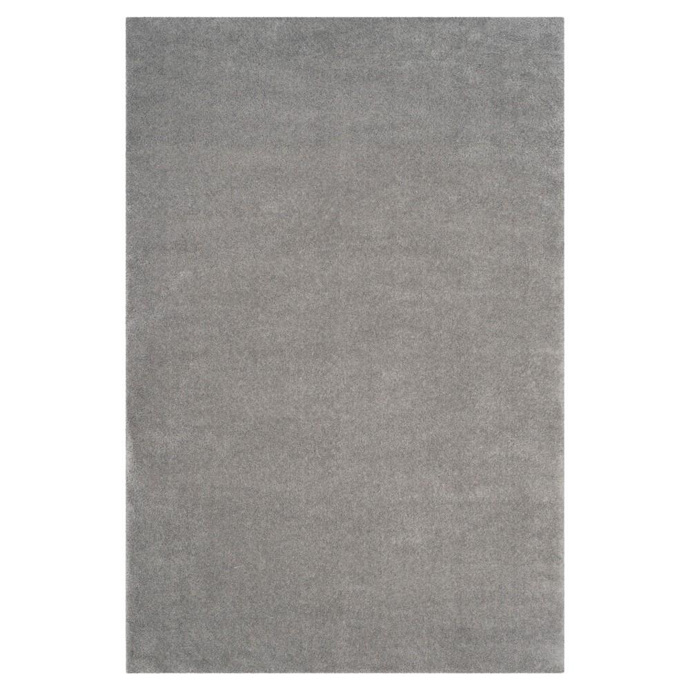 Velvet Shag Rug - Light Gray - (5'1