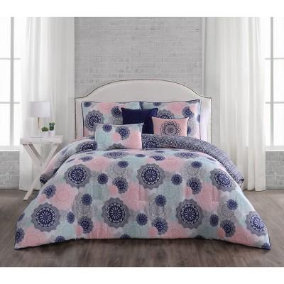 Lorna Comforter Set - Aurora Stone