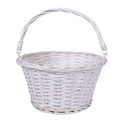 "12"" Willow Easter Basket White - Spritz™"