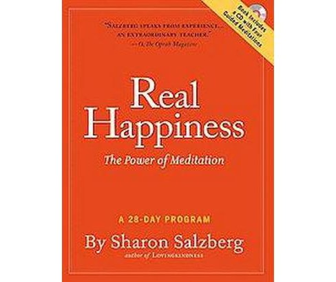 Real Happiness : The Power of Meditation: A 28-Day Program (Paperback) (Sharon Salzberg) - image 1 of 1