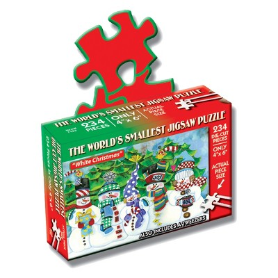 TDC Games World's Smallest Jigsaw Puzzle - White Christmas, 4 x 6 inches