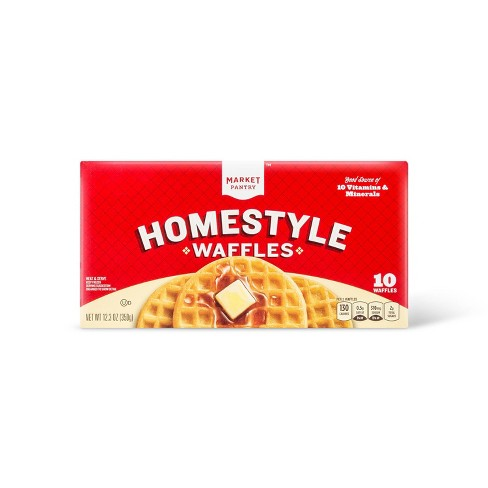 Homestyle Frozen Waffles - 12.3oz/10ct - Market Pantry™ - image 1 of 1