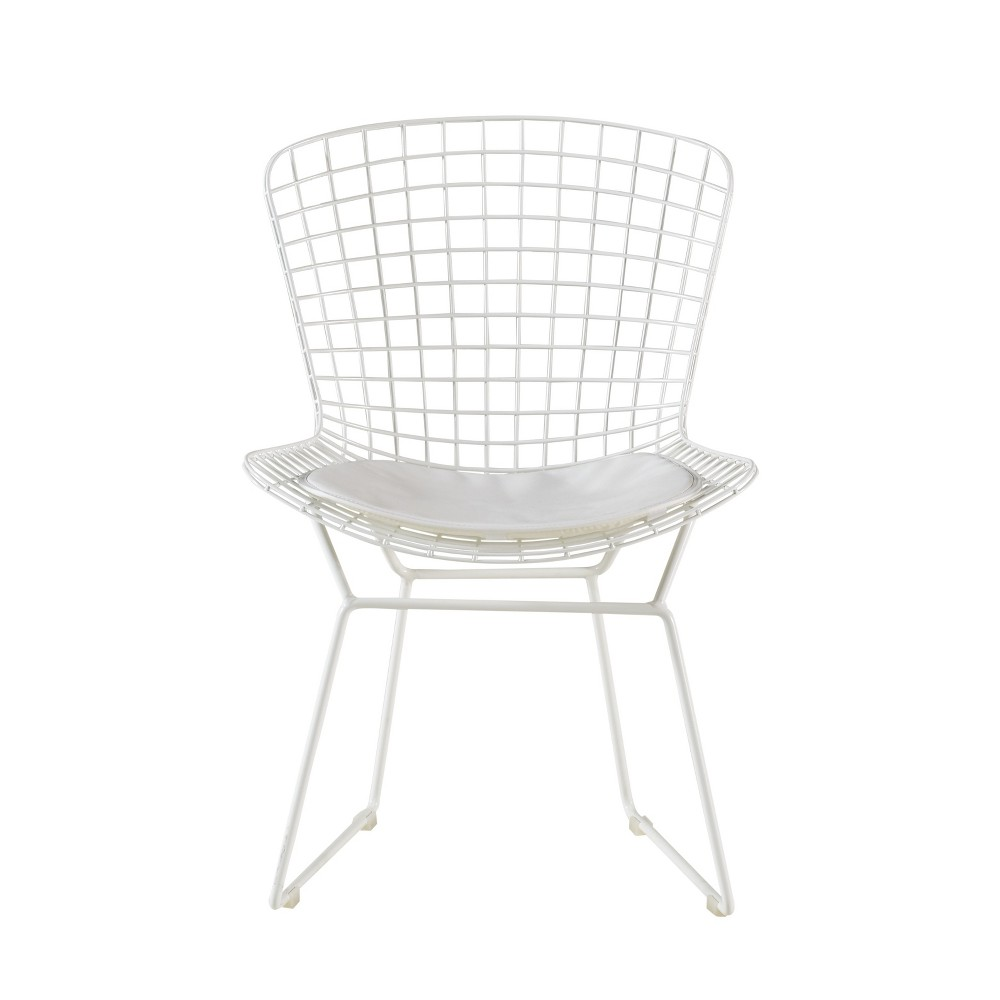Holly Wire Chair Set of 2 White - Adore Decor