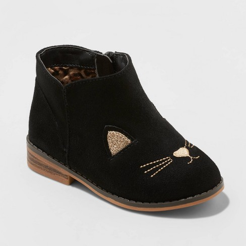 Toddler Girls' Esylit Fashion Boots - Cat & Jack™ Black - image 1 of 3
