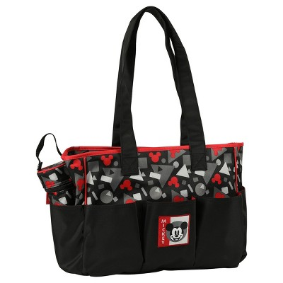 Disney Mickey Mouse Diaper Bag 3pc - Black Geo