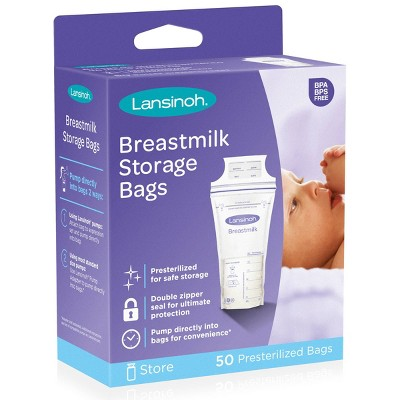 Lansinoh Breast Milk Storage Bags, 6oz (50ct)