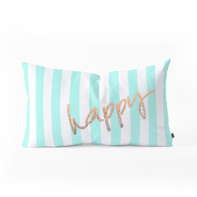 Monika Strigel Pretty Happy Mint Lumbar Throw Pillow Green - Deny Designs