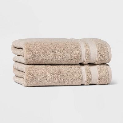 2pk Performance Bath Towel Set Sand - Threshold™