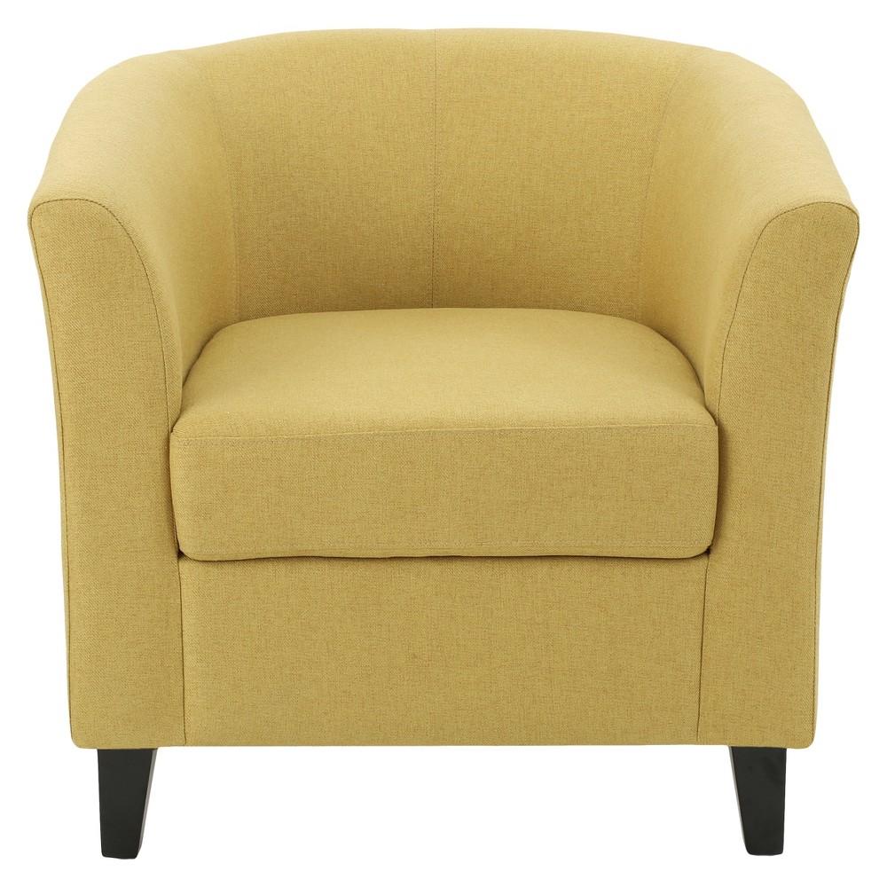 Preston Club Chair - Yellow/Green - Christopher Knight Home
