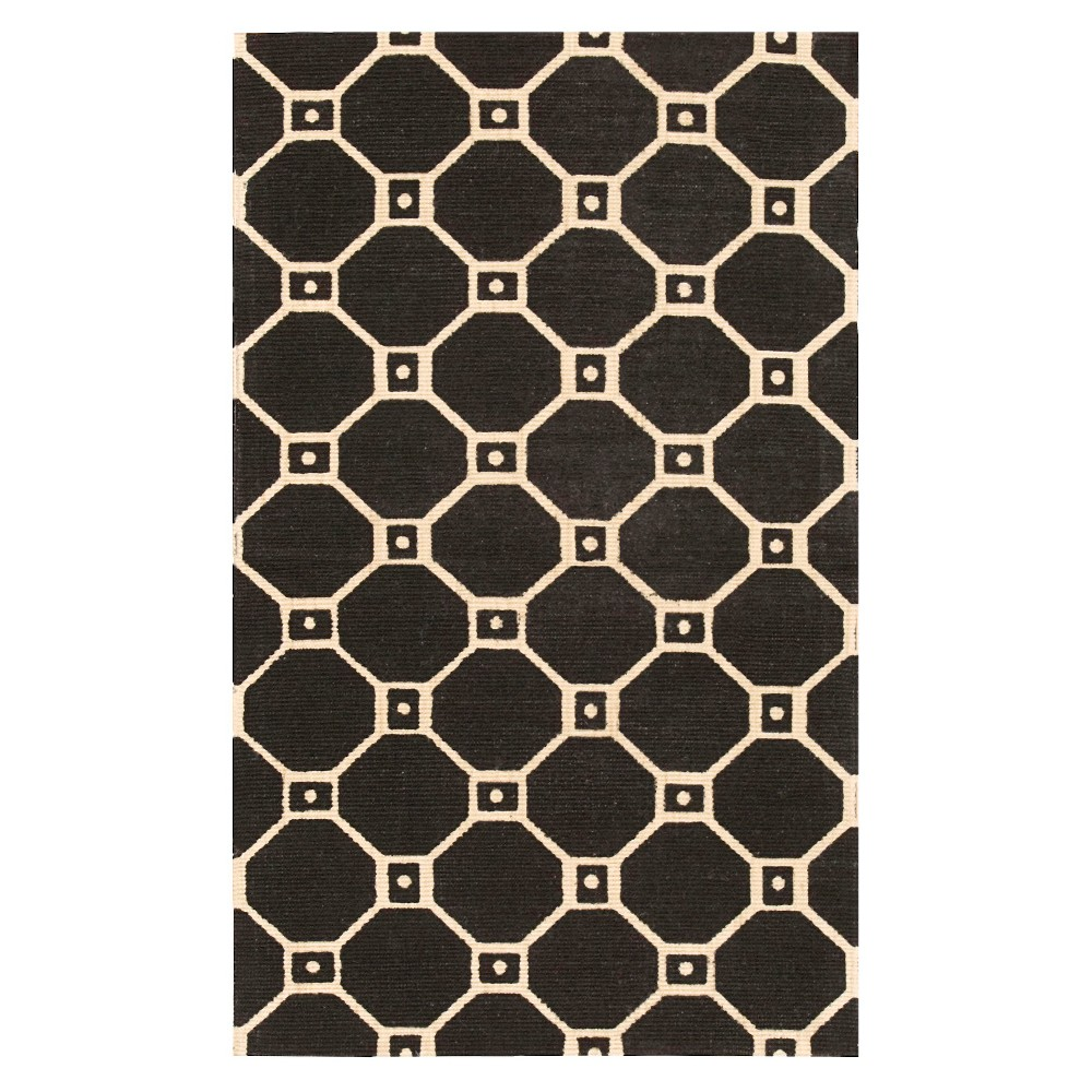 Waverly Tile Jute Flatweave Accent Rug - Black (2'3