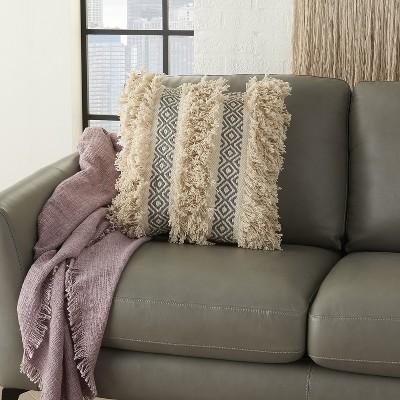 Mina Victory Life Styles Diamond Stripe Texture Throw Pillow : Target