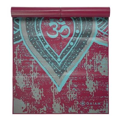 Gaiam Printed Foldable Yoga Mat - Maroon (2mm)