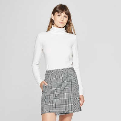 Women's Long Sleeve Fitted Turtleneck - A New Day™ White M