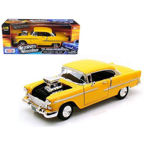 1955 Chevrolet Bel Air Yellow With Blower 118 Diecast Car Model By