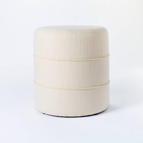 Catalina Mudcloth Round Ottoman - Threshold™ designed with Studio McGee - image 1 of 4