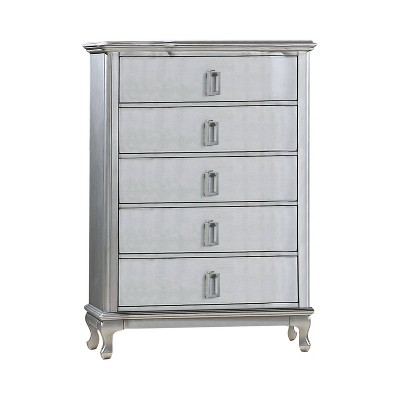 Bentlee 5 Drawer Chest Silver - HOMES: Inside + Out