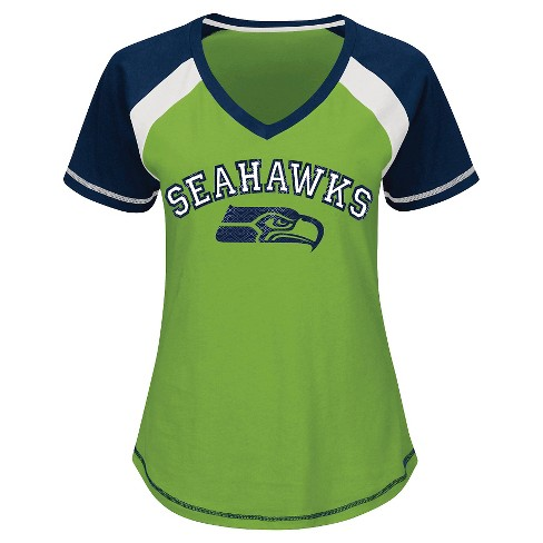 Seattle Seahawks Women's 2nd Raglan T-Shirt XL - image 1 of 1