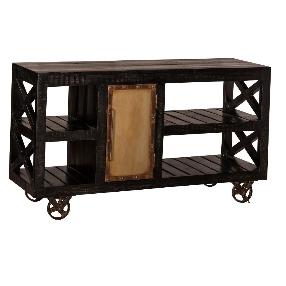 Bridgewater Trolly Server - Rubbed Black - Hillsdale Furniture