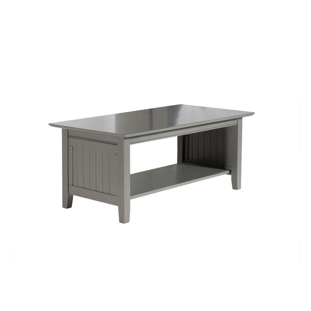 Atlantic Furniture Nantucket Coffee Table Gray