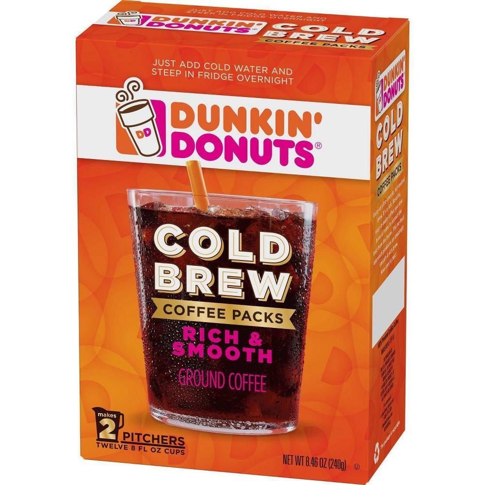 Dunkin Donuts Cold Brew Medium Roast Coffee 2ct